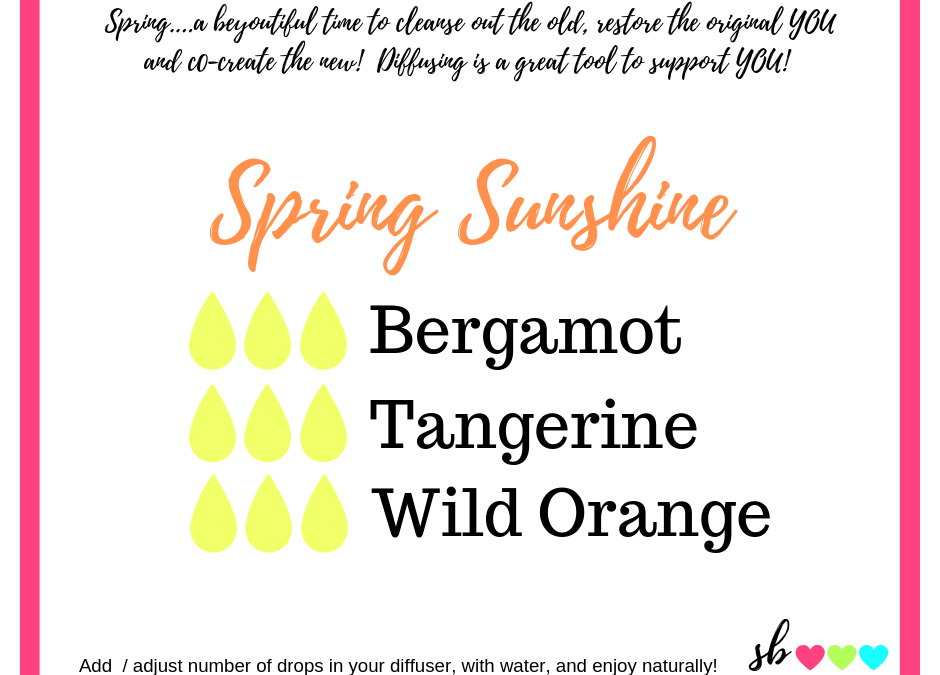 Spring Sunshine diffuser blend supports happy moods